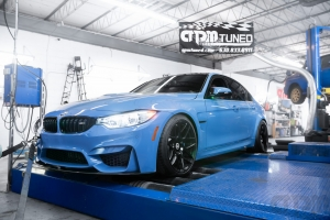 Blue M3 F80 on Mustang AWD 4WD Dyno Dynamometer