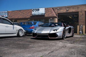 Lamborghini Aventador outside of our Villa Park Location